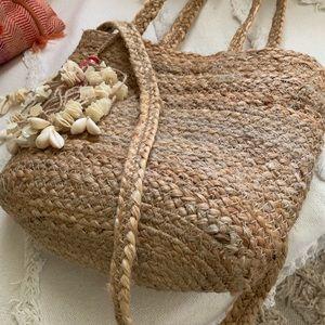 Zara natural Jute bag